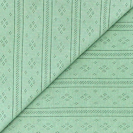 Лоскут трикотажной ткани Ажурный Полынь 50*30