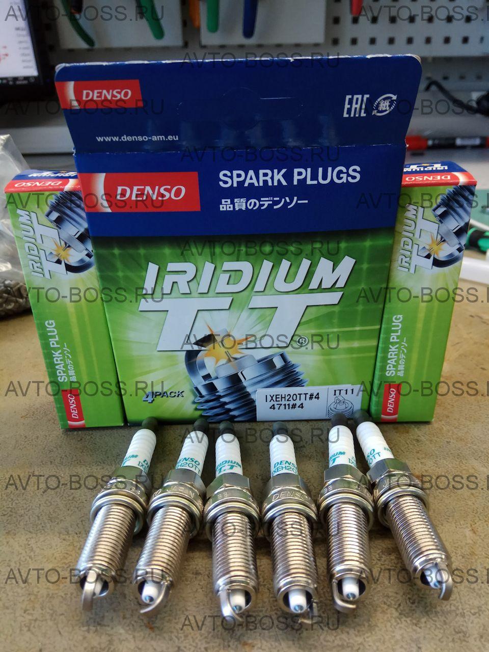 Свеча зажигания Denso IXEH20ETT   Nissan Juke/Micra/Tiida/Latio 1.5/1.6 04>