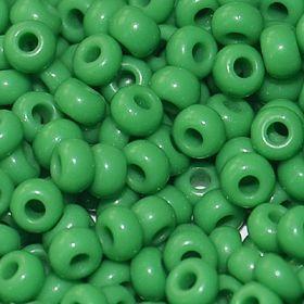 Бисер чешский 53250 непрозрачный зеленый Preciosa 1 сорт