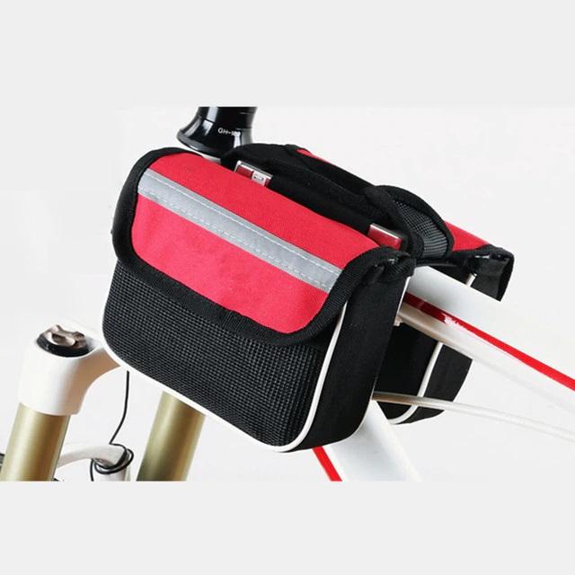 Двойная велосипедная сумка с водоотталкивающим эффектом, цвет красный