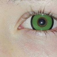Линзы зеленые с ободком