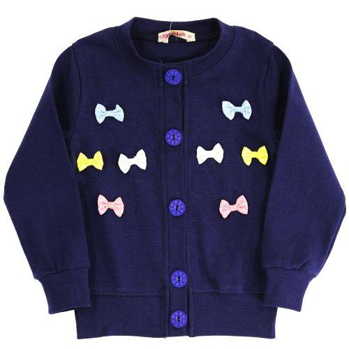 Кардиган для девочек 3-6 лет Bonito темно-синий