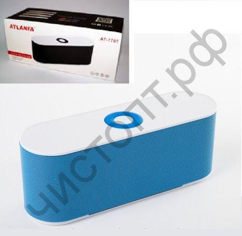 Колонка универс.с радио ATLANFA AT-7707 сабвуфер 10 Ватт USB SD аккумулятор