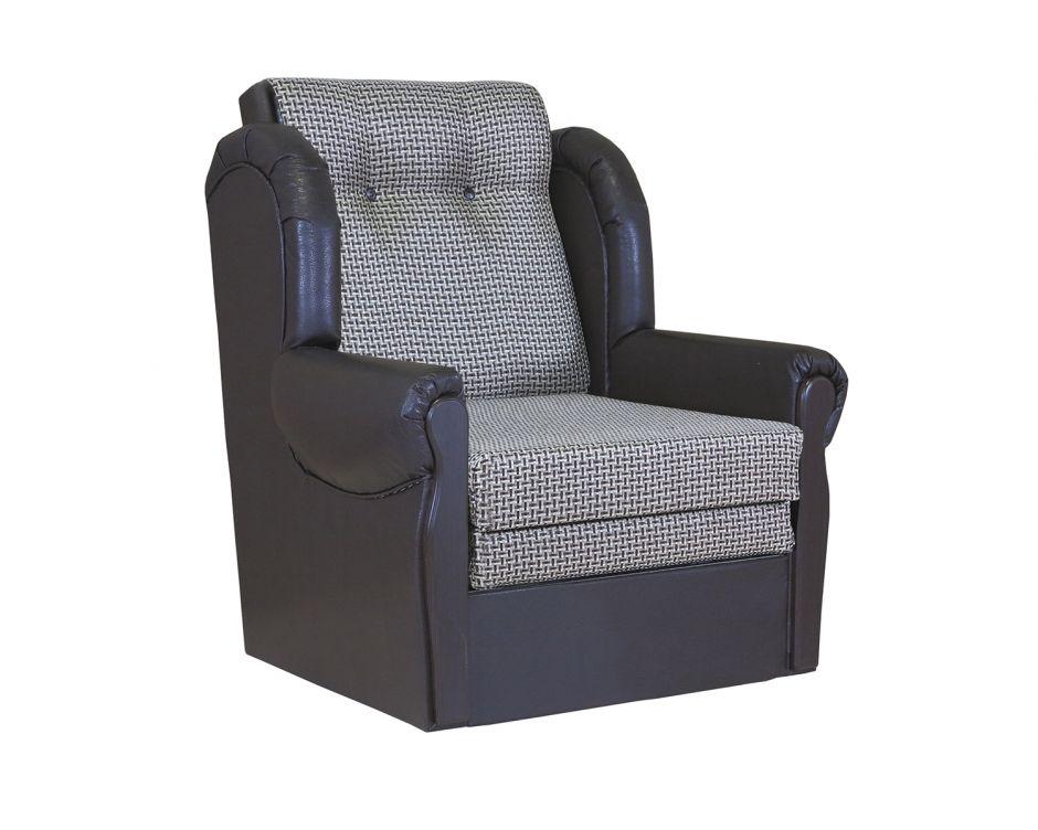"""Кресло-кровать """"Классика М""""  рогожка коричневый"""