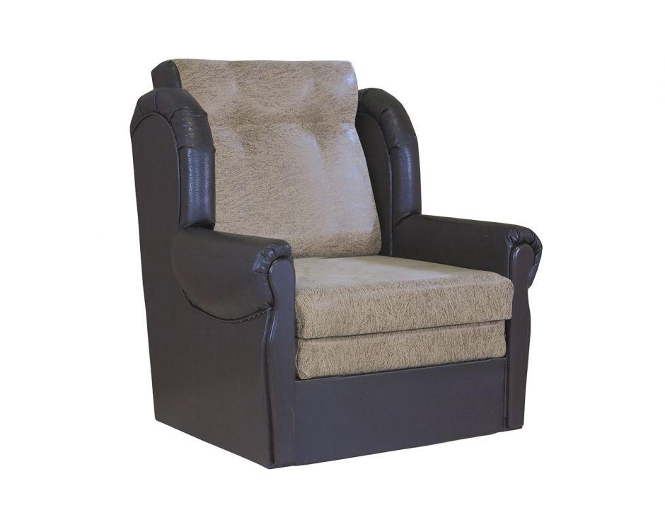 """Кресло-кровать """"Классика М""""   замша коричневый"""