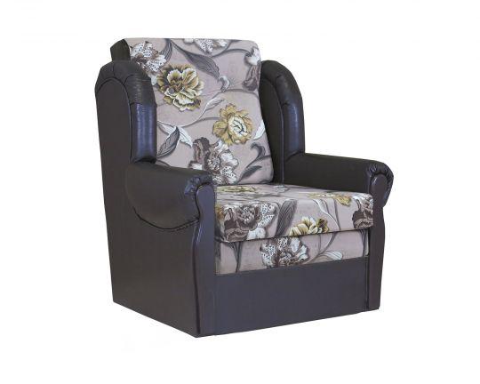 """Кресло-кровать """"Классика М"""" велюр цветы"""