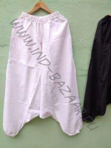 LONG Длинные белые штаны алладины / афгани, на высокий рост (СПб)