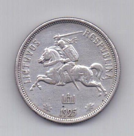 5 лит 1925 года АUNC Литва