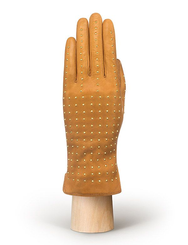Женские перчатки с железными клепками ELEGANZZA