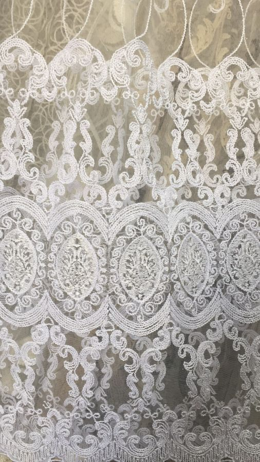 Тюль турецкая вышивка на микро сетке окошки