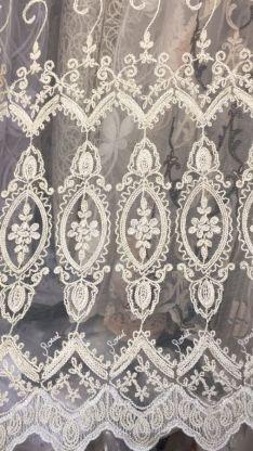 Тюль турецкая вышивка на микро сетке окошки 2