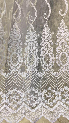 Тюль турецкая вышивка на микро сетке окошки 3