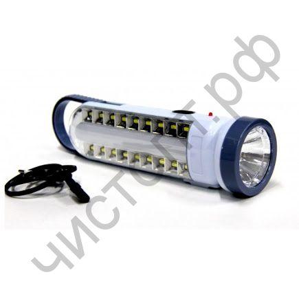 Фонарь кемпинг. аккум. SH-189AS  1LED+1LED (1светодиод.+ 1светодиод.) 3 реж. заряд 220в и от солнца ,USB выход для зарядки