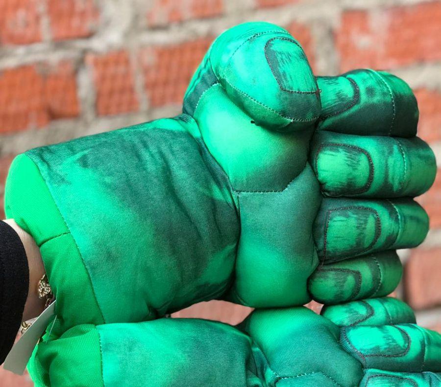 Перчатки на руку мягкие Халк