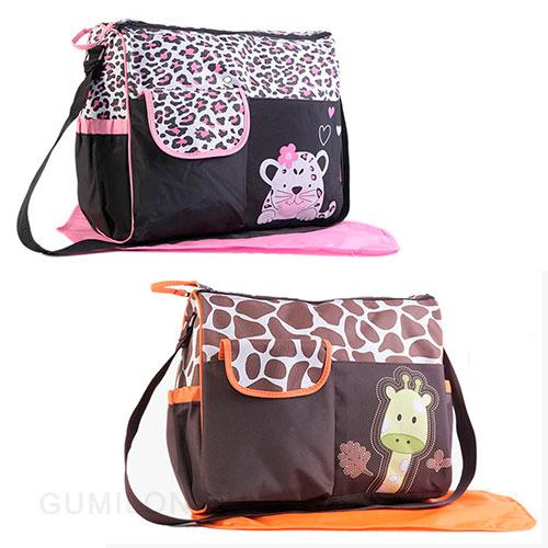 Многофункциональная сумка для мам с пеленкой Зверята, 39х15х32 см