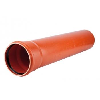 Труба гладкая SN8 d160х4,7х1000 НПВХ наружная канализация Polyplastic