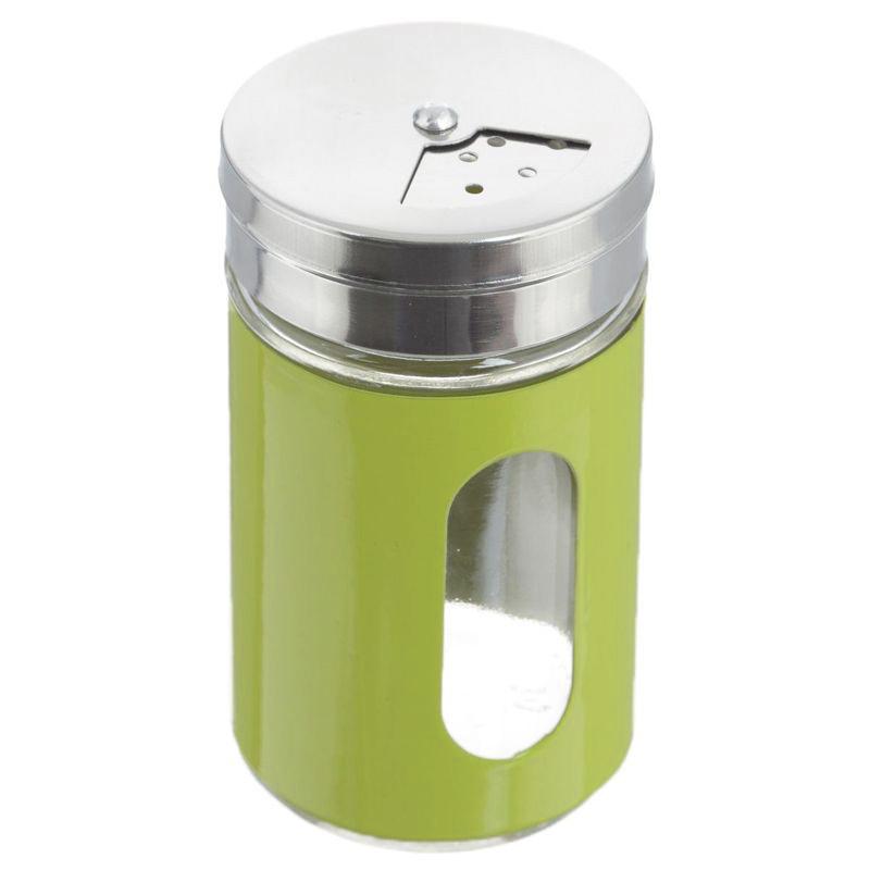 Баночка для специй с тремя видами отверстий, цвет зеленый
