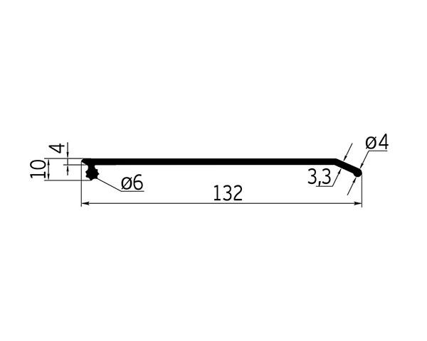 Профиль от налива для сдвижных крыш (с боковым замком) L=14 м/п