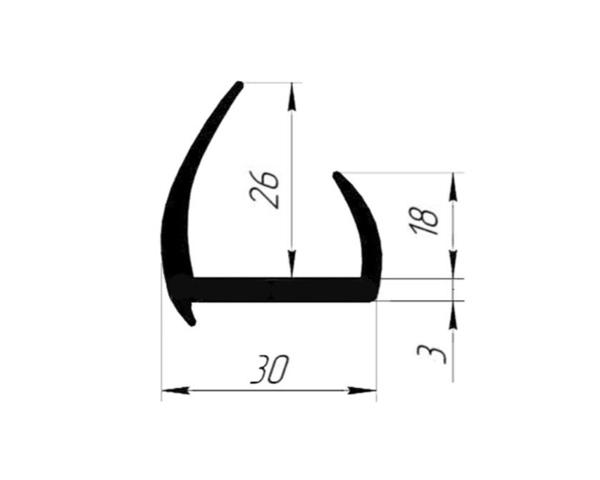 Уплотнитель резиновый 30 мм (Арт.: 58030)