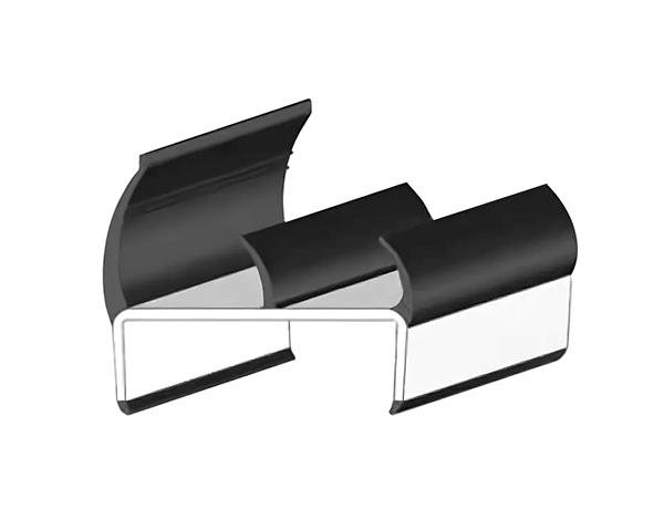 Уплотнитель резинопластиковый 55 мм - 3.20 м  (Арт.: 1530601006)