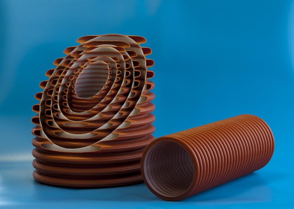 Труба двухслойная ф117/100 SN8(6м)с перфорацией 120˚