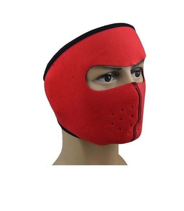 Флисовая маска для защиты от холода красная
