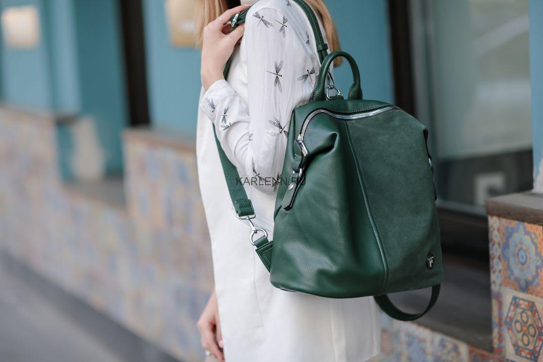Рюкзак-сумка Velina Fabbiano  (зелёный)