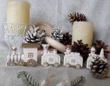 Рождественский паровозик белый
