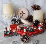 Рождественский паровозик красный