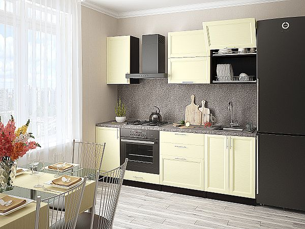 Кухня Сканди-01 Ivory Wood