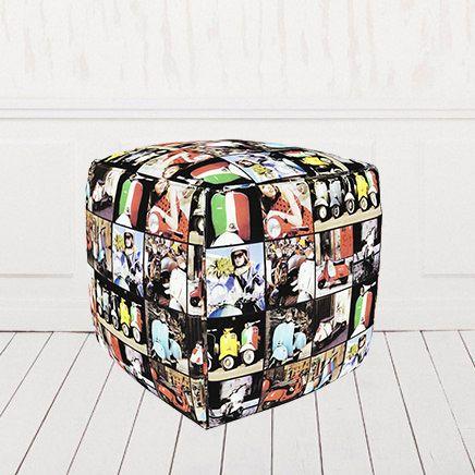 Пуфик кубик велюр Скутер 01