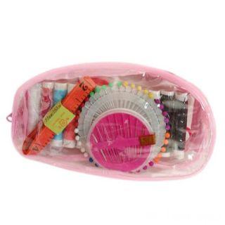 Компактный набор для шитья в прозачной сумочке, 17х9х3 см