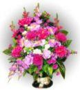 Ритуальная корзина из искусственных цветов N15, РАЗМЕР 60см, 80см,90 см
