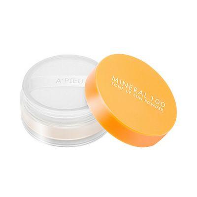 Пудра солнцезащитная A'PIEU Mineral 100 Tone Up Sun Powder SPF50+/PA+++ (Natural Beige)