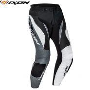 Мотоштаны кожаные Ixon Falcon, Черный/белый/серый