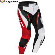 Мотоштаны кожаные Ixon Falcon, Белый/черный/красный
