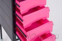Парикмахерская тележка QA00265-X розовая - вид 7