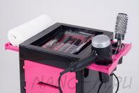 Парикмахерская тележка QA00265-X розовая - вид 4