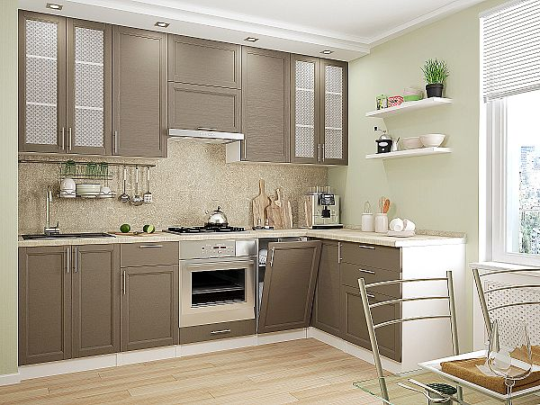 Кухня Сканди-04 Cappuccino Wood