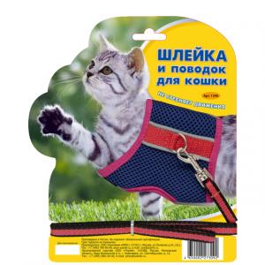 ЗООНИК Шлейка из сетки с поводом для котенка
