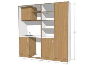 Мини кухня со шкафом