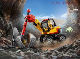 Конструктор Lari Город Трактор для горных работ 10874 ( 60185) 132 дет