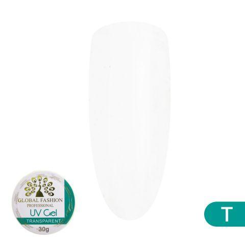 Гель для наращивания ногтей, прозрачный, Global Fashion Transparent, 30 гр