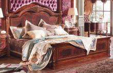 Кровать ALEKSANDRIA В 1,8*2,0 м (деревянное изголовье) б/осн