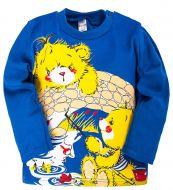 Лонгслив для мальчиков 1-4 лет Bonito kids синий с медвежатами