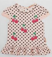 Туника для девочек 1-5 лет Bonito kids персиковая в горошек