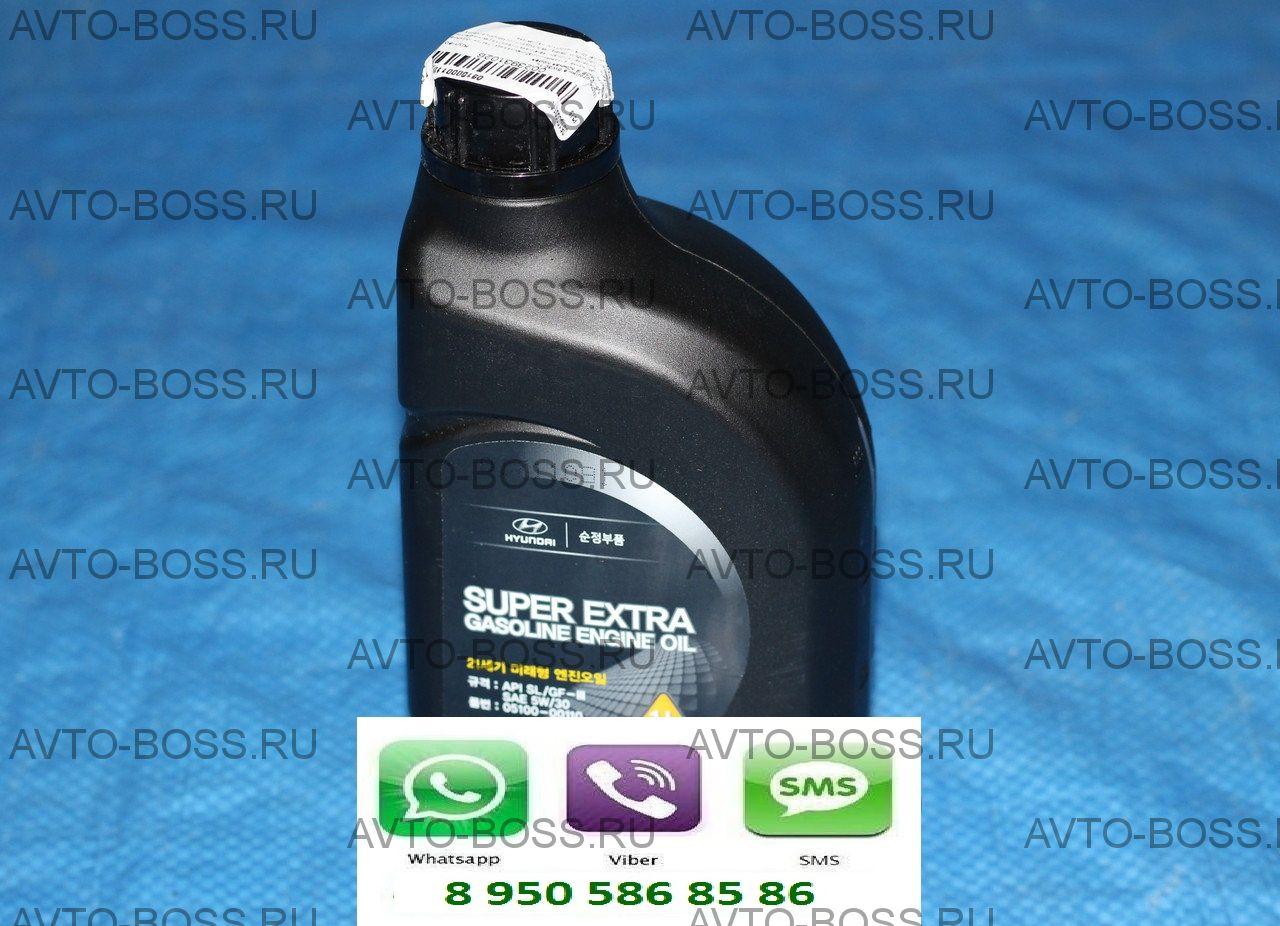 Масло моторное оригинальное Super Extra Gasoline Engine Oil5w/30 на Hyundai Solaris Вязкость масла по SAE 5W-30 Объем жидкости1.0(л)