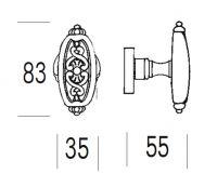 Ручка-кноб Salice Paolo Varsavia 4347/4345. схема