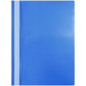 Папка-скоросшиватель пластик. OfficeSpace, А4, 120мкм, синяя с прозр. верхом (арт. 998138)