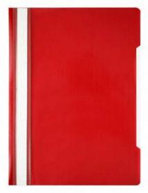 Папка-скоросшиватель Economy A4 прозрач. верх. лист пластик красный (арт. 998172)
